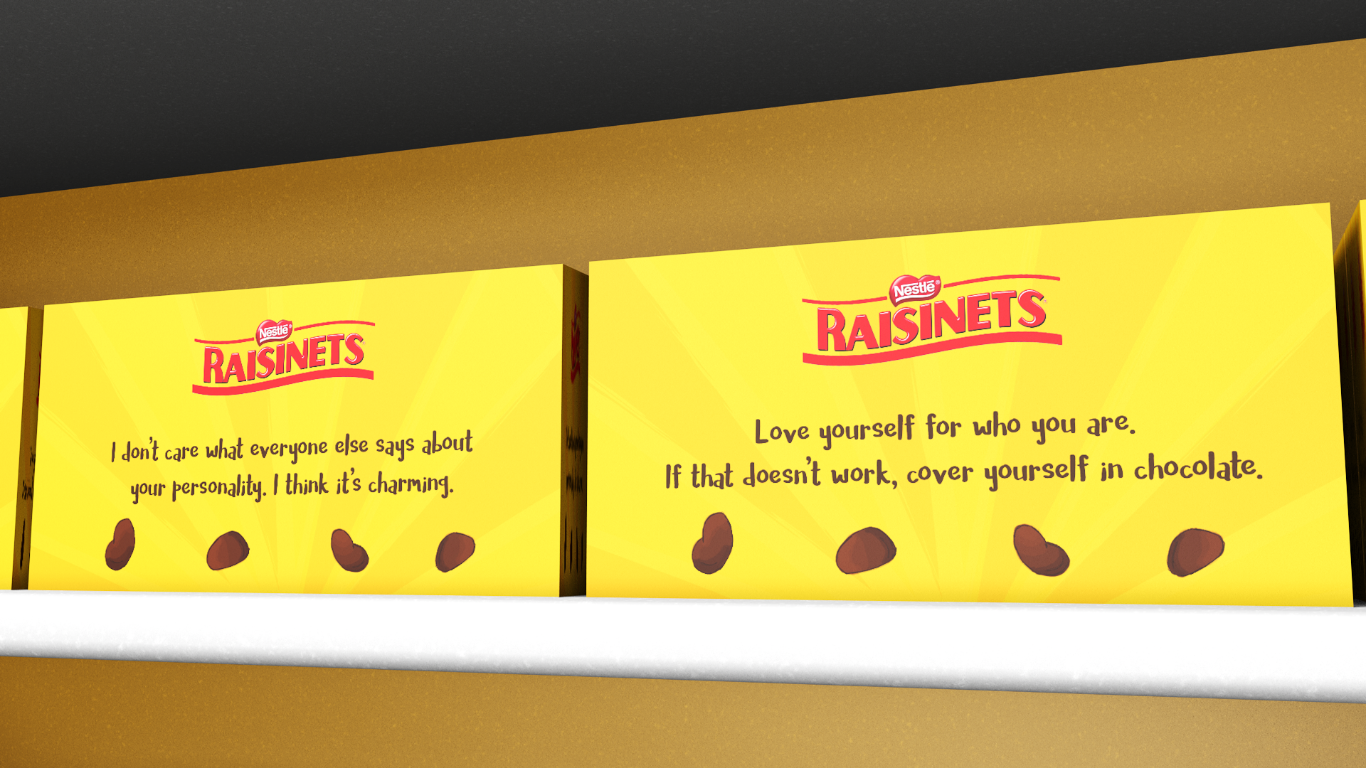Raisinets box phrases