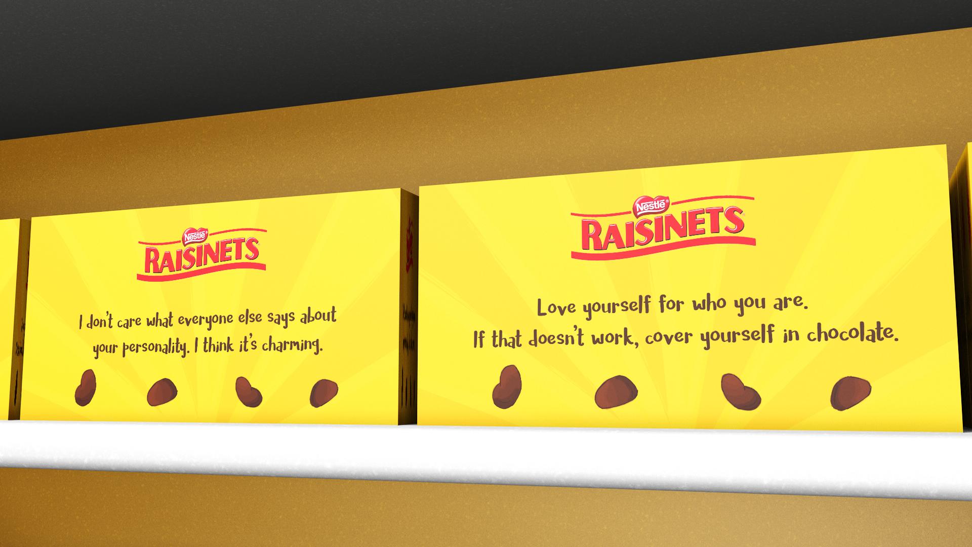Raisinets box phrases