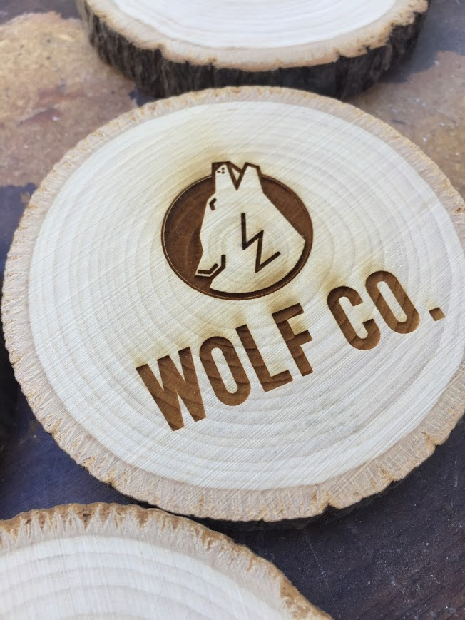 Sarah K. Wolf Logo Coasters